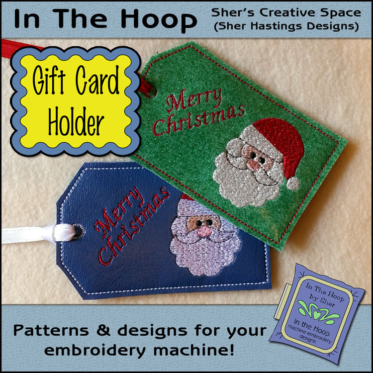 Ith santa gift card holder christmas gift card holder machine ith santa gift card holder christmas gift card holder machine embroidery reheart Images